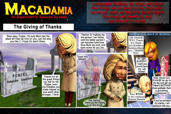 Macadamia episode for November 25, 2004